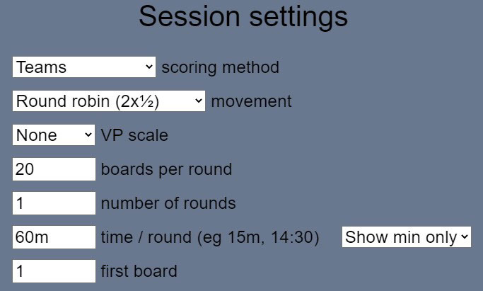 session settings two sets